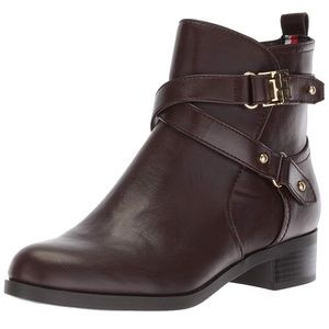 TOMMY HILFIGER | Brown booties
